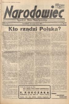 Narodowiec : tygodnik Obozu Wszechpolskiego. 1938, nr6