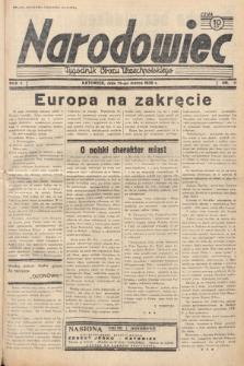Narodowiec : tygodnik Obozu Wszechpolskiego. 1938, nr11
