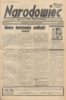 Narodowiec : tygodnik Obozu Wszechpolskiego. 1938, nr14