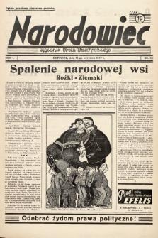 Narodowiec : tygodnik Obozu Wszechpolskiego. 1937, nr20