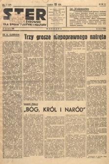 Ster : tygodnik żydowski dla spraw polityki i kultury. 1938, nr1 (47)