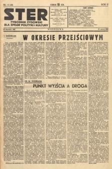 Ster : tygodnik żydowski dla spraw polityki i kultury. 1938, nr2 (48)