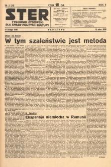 Ster : tygodnik żydowski dla spraw polityki i kultury. 1938, nr5 (51)