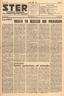 Ster : tygodnik żydowski dla spraw polityki i kultury. 1938, nr7 (53)