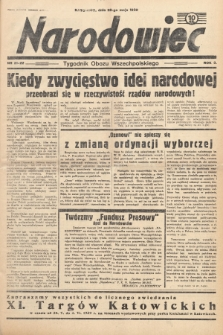Narodowiec : tygodnik Obozu Wszechpolskiego. 1939, nr21-22