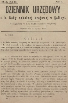 Dziennik Urzędowy C. K. Rady Szkolnej Krajowej w Galicyi. 1909 [całość]