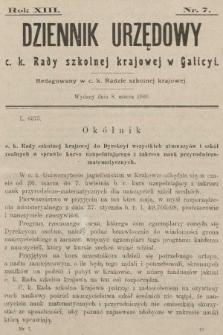 Dziennik Urzędowy c. k. Rady szkolnej krajowej w Galicyi. 1909, nr7