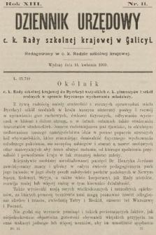 Dziennik Urzędowy c. k. Rady szkolnej krajowej w Galicyi. 1909, nr11
