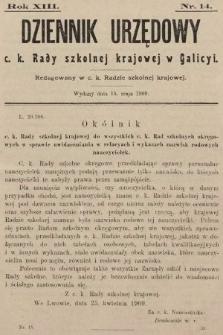 Dziennik Urzędowy c. k. Rady szkolnej krajowej w Galicyi. 1909, nr14