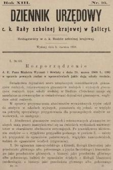 Dziennik Urzędowy c. k. Rady szkolnej krajowej w Galicyi. 1909, nr16