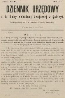 Dziennik Urzędowy c. k. Rady szkolnej krajowej w Galicyi. 1909, nr19