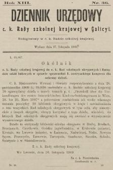 Dziennik Urzędowy c. k. Rady szkolnej krajowej w Galicyi. 1909, nr36