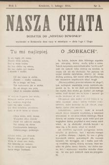"""Nasza Chata : dodatek do """"Nowego Dzwonka"""". 1914, nr3"""