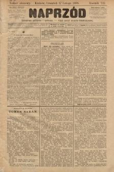 Naprzód : czasopismo polityczne i społeczne : organ partyi socyalno-demokratycznej. 1898, numer okazowy