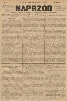Naprzód : czasopismo polityczne i społeczne : organ partyi socyalno-demokratycznej. 1898, nr9