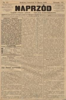 Naprzód : czasopismo polityczne i społeczne : organ partyi socyalno-demokratycznej. 1898, nr13