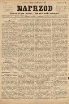 Naprzód : czasopismo polityczne i społeczne : organ partyi socyalno-demokratycznej. 1898, nr4
