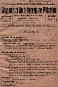 Wiadomości Archidiecezjalne Wileńskie : dwutygodnik kapłański. 1928 [całość]