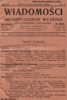 Wiadomości Archidiecezjalne Wileńskie : dwutygodnik kapłański. 1929 [całość]