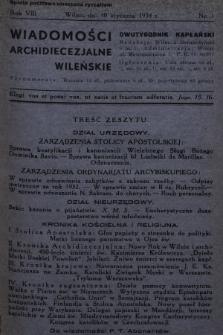 Wiadomości Archidiecezjalne Wileńskie : dwutygodnik kapłański. 1934 [całość]