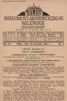 Wiadomości Archidiecezjalne Wileńskie : dwutygodnik kapłański. 1937 [całość]