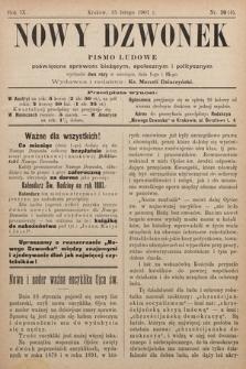 Nowy Dzwonek : pismo ludowe poświęcone sprawom bieżącym, społecznym i politycznym. 1901, nr10