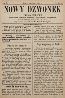 Nowy Dzwonek : pismo ludowe poświęcone sprawom bieżącym, społecznym i politycznym. 1901, nr18
