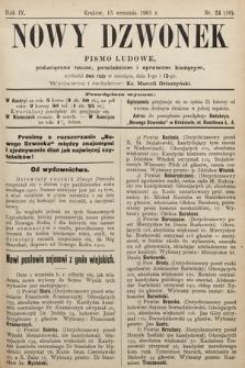 Nowy Dzwonek : pismo ludowe, poświęcone nauce, powieściom i sprawom bieżącym. 1901, nr24