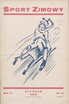"""Sport Zimowy : dodatek do """"Sportu Wodnego"""". R. 6[!], 1930, nr2"""