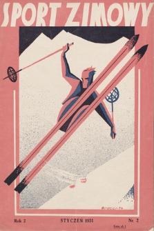"""Sport Zimowy : dodatek do """"Sportu Wodnego"""". R. 2, 1931, nr2"""