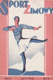 """Sport Zimowy : dodatek do """"Sportu Wodnego"""". R. 2, 1931, nr3"""