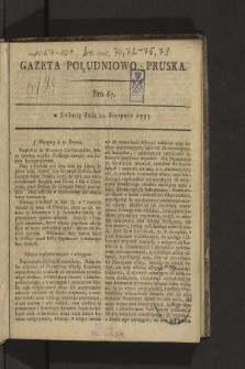 Gazeta Południowo-Pruska. 1795, nr67