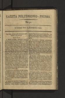 Gazeta Południowo-Pruska. 1795, nr91