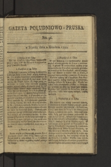 Gazeta Południowo-Pruska. 1795, nr96