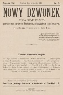 Nowy Dzwonek : pismo poświęcone nauce, powieściom i sprawom bieżącym. 1908, nr9