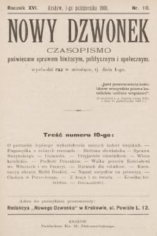 Nowy Dzwonek : pismo poświęcone nauce, powieściom i sprawom bieżącym. 1908, nr10