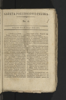 Gazeta Południowo-Pruska. 1800, nr17