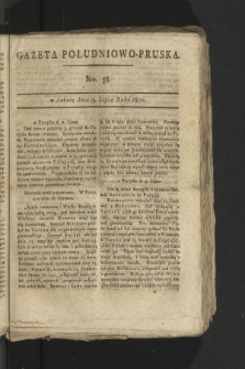 Gazeta Południowo-Pruska. 1800, nr58