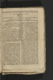 Gazeta Południowo-Pruska. 1800, nr65