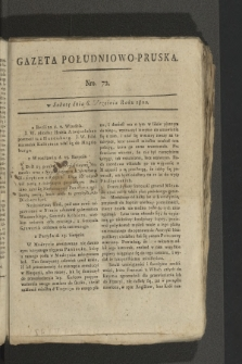 Gazeta Południowo-Pruska. 1800, nr72