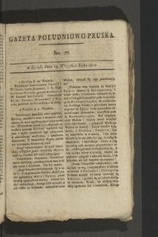 Gazeta Południowo-Pruska. 1800, nr77