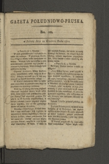 Gazeta Południowo-Pruska. 1800, nr102