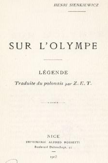 Sur l'Olympe : légende