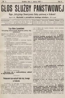 Głos Służby Państwowej : organ Galicyjskiego Stowarzyszenia Służby Państwowej. 1907, nr3