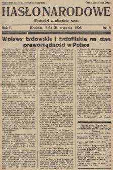 Hasło Narodowe. 1926, nr5