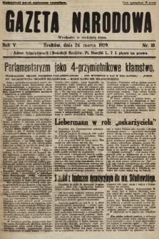 Gazeta Narodowa. 1929, nr10