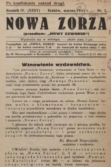 """Nowa Zorza : (przedtem """"Nowy Dzwonek""""). 1931, nr1"""
