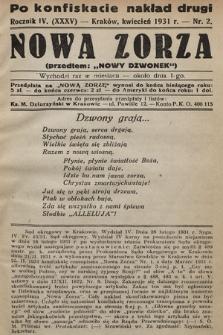 """Nowa Zorza : (przedtem """"Nowy Dzwonek""""). 1931, nr2"""