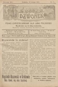 Nowy Dzwonek : pismo chrześcijańskie dla ludu polskiego. 1911, nr7