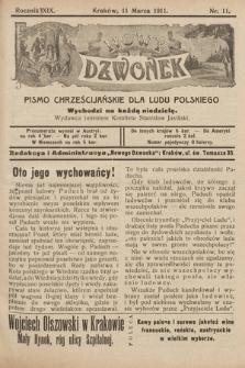 Nowy Dzwonek : pismo chrześcijańskie dla ludu polskiego. 1911, nr11